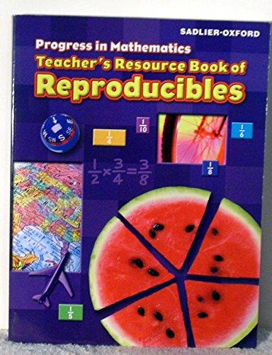 9780821582855: Progress in Mathematics: Teacher's Resource Book of Reproducibles, Grade 5
