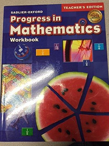 9780821584651: Sadlier Oxford Progress in Mathematics Workbook Teacher's Edition California Edition Grade 5