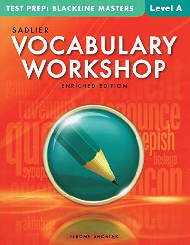 9780821587362: Vocabulary Workshop @2013, Enriched Edition, Test Prep: Blackline Masters Level A (Grade 6)