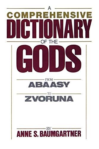 9780821601815: A Comprehensive Dictionary of the Gods