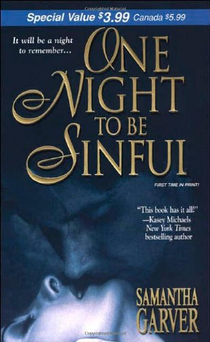 9780821779422: One Night To Be Sinful (Zebra Debut)