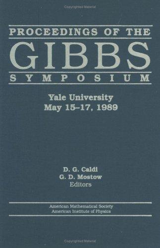 9780821801574: Proceedings of the Gibbs Symposium, Yale University, May 15-17, 1989