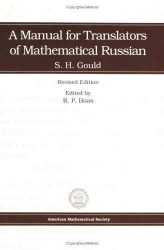 9780821801727: A Manual for Translators of Mathematical Russian