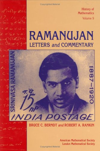 9780821802878: Ramanujan: Letters and Commentary (History of Mathematics)