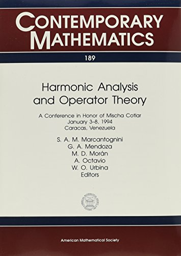 9780821803042: Harmonic Analysis and Operator Theory: A Conference in Honor of Mischa Cotlar, January 3-8, 1994, Caracas, Venezuela (Contemporary Mathematics)