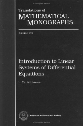 9780821803288: Introduction to Linear Systems of Differential Equations (Translations of Mathematical Monographs)