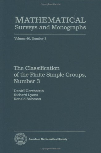9780821803912: The Classification of the Finite Simple Groups, Number 3