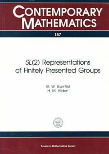 9780821804162: Sl (2) Representations of Finitely Presented Groups (Contemporary Mathematics)