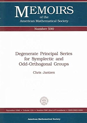 9780821804827: Degenerate Principal Series for Symplectic and Odd-Orthogonal Groups (Memoirs of the American Mathematical Society)