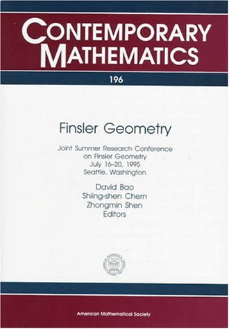 9780821805077: Finsler Geometry: Joint Summer Research Conference on Finsler Geometry, July 16-20, 1995, Seattle, Washington (Contemporary Mathematics)