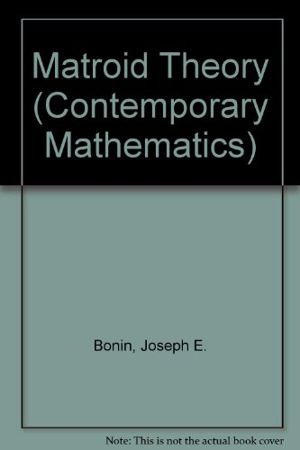 9780821805084: Matroid Theory (Contemporary Mathematics)