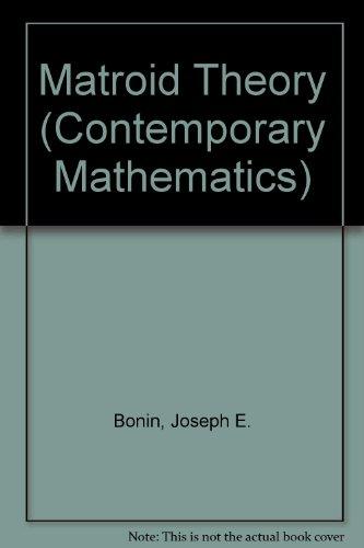 9780821805084: Matroid Theory (Contemporary Mathematics)