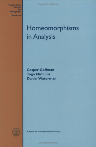 9780821806142: Homeomorphisms In Analysis (Mathematical Surveys and Monographs)