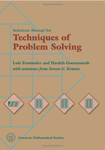 9780821806289: Solutions Manual for Techniques of Problem Solving