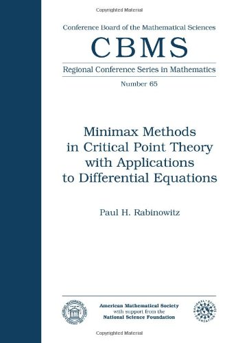 9780821807156: Minimax Methods in Critical Point Theory with Applications to Differential Equations (Cbms Regional Conference Series in Mathematics)