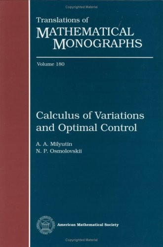 9780821807538: Calculus of Variations and Optimal Control (Translations of Mathematical Monographs, Vol. 180)