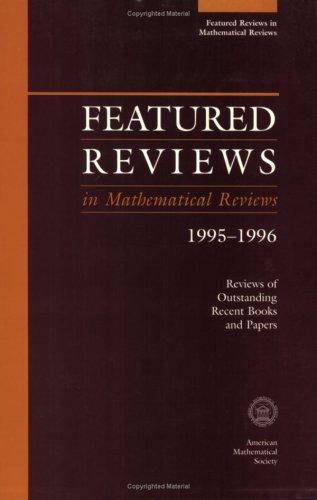Featured Reviews in Mathematical Reviews 1995-1996: Babbitt, Donald G.