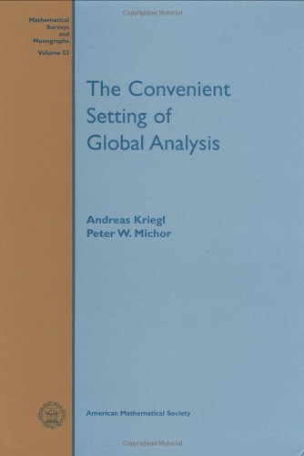 9780821807804: The Convenient Setting of Global Analysis (Mathematical Surveys & Monographs)