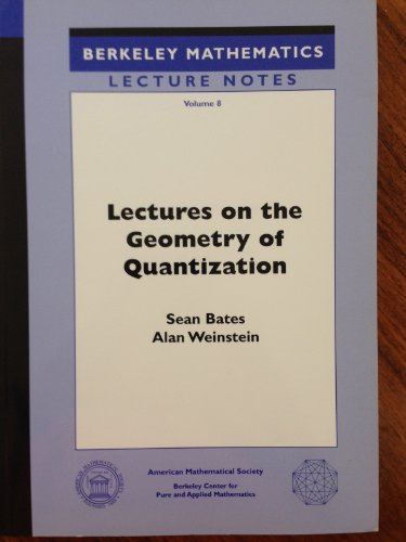 9780821807989: Lectures on the Geometry of Quantization (Berkeley Mathematical Lecture Notes ; Vol 8) BMLN/8