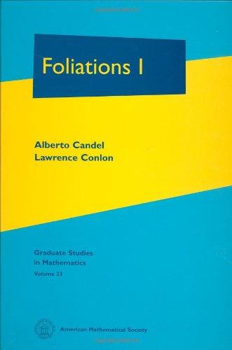 9780821808092: Foliations I (Graduate Studies in Mathematics)