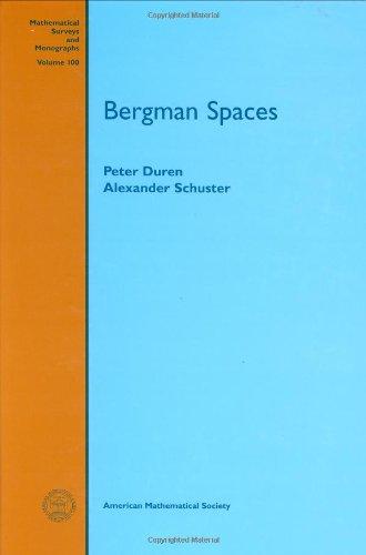 9780821808108: Bergman Spaces (Mathematical Surveys & Monographs)