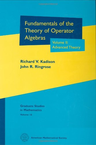 9780821808207: Fundamentals of the Theory of Operator Algebras, Vol. 2: Advanced Theory (Graduate Studies in Mathematics, Vol. 16)