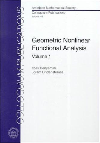 9780821808351: Geometric Nonlinear Functional Analysis: Volume 1