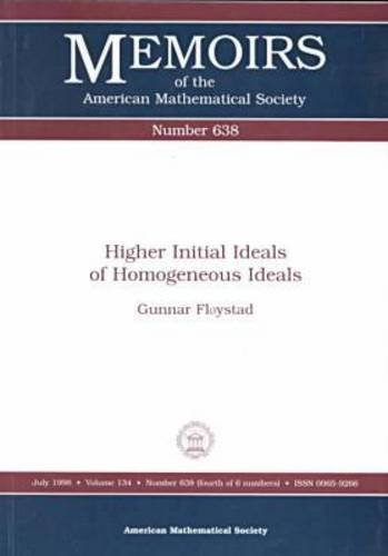 9780821808535: Higher Initial Ideals of Homogeneous Ideals (Memoirs of the American Mathematical Society)