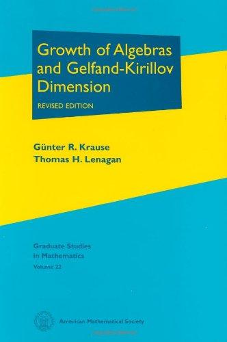 Growth of Algebras and Gelfand-Kirillov Dimension (Graduate: Gunter R. Krause