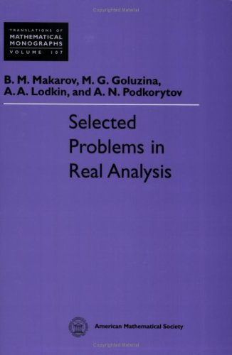 9780821809532: Selected Problems in Real Analysis (Translations of Mathematical Monographs)