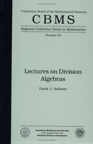 9780821809792: Lectures on Division Algebras (Cbms Regional Conference Series in Mathematics)