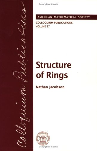 9780821810378: Structure of Rings (COLLOQUIUM PUBLICATIONS (AMER MATHEMATICAL SOC))