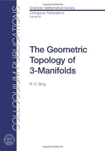 9780821810408: The Geometric Topology of 3-Manifolds (Colloquium Publications)