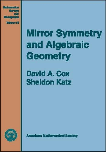 9780821810590: Mirror Symmetry and Algebraic Geometry (Mathematical Surveys and Monographs)