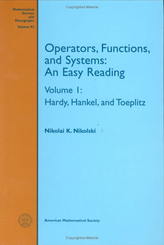 9780821810835: Operators, Functions, and Systems: An Easy Reading (Mathematical Surveys & Monographs)