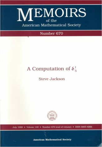 9780821810910: A Computation of (Greek Arithmetical Symbols) 1/5 (Memoirs of the American Mathematical Society)