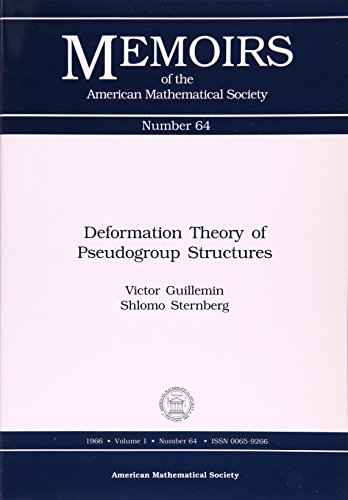 9780821812648: Deformation Theory of Pseudogroup Structures (Memoirs of the American Mathematical Society)