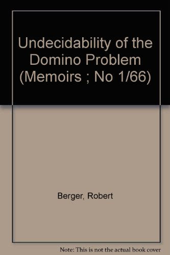 9780821812662: Undecidability of the Domino Problem (Memoirs ; No 1/66)