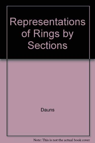 9780821812839: Representations of Rings by Sections