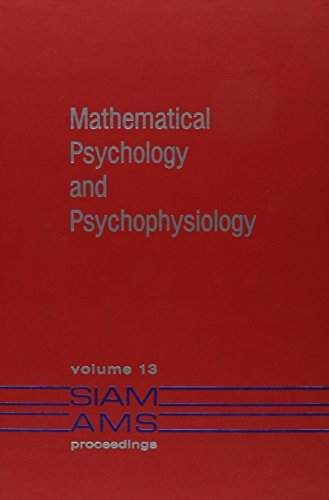 9780821813331: 013: Mathematical Psychology and Psychophysiology (Society for Industrial and Applied Mathematics Proceedings)