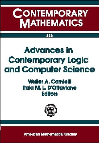 9780821813645: Advances in Contemporary Logic and Computer Science: Proceedings of the Eleventh Brazilian Conference on Mathematical Logic, May 6-10, 1996, Salvador Da Bahia, Brazil (Contemporary Mathematics)