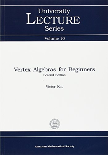 9780821813966: Vertex Algebras for Beginners (University Lecture Series)