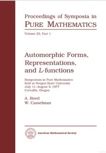 9780821814741: Automorphic Forms, Representations, and L-Functions (Proceedings of Symposia in Pure Mathematics)