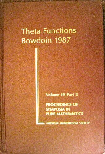 9780821814840: Theta Functions - Bowdoin 1987: Part 2: Pt. 2 (Proceedings of Symposia in Pure Mathematics)