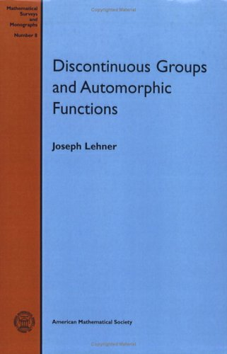 9780821815083: Discontinuous Groups and Automorphic Functions (Mathematical Surveys and Monographs)