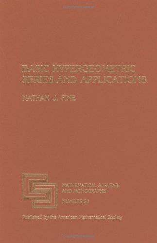 9780821815243: Basic Hypergeometric Series and Applications (Mathematical Surveys and Monographs)