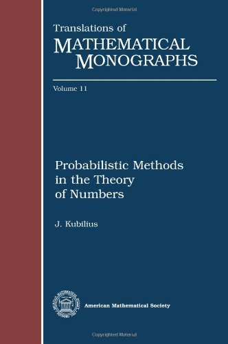 9780821815618: Probabilistic Methods in the Theory of Numbers: 002 (Translations of Mathematical Monographs)