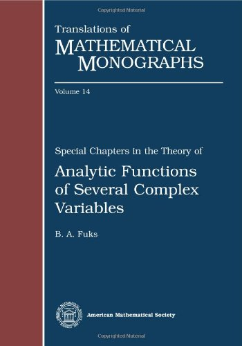 Special Chapters in the Theory of Analytic: B. A. Fuks