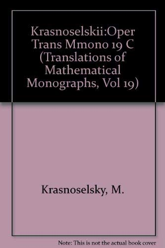 9780821815694: The Operator of Translation Along the Trajectories of Differential Equations (Translations of Mathematical Monographs, Vol 19)