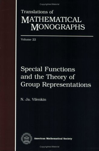 9780821815724: Special Functions and the Theory of Group Representations (Translations of Mathematical Monographs)